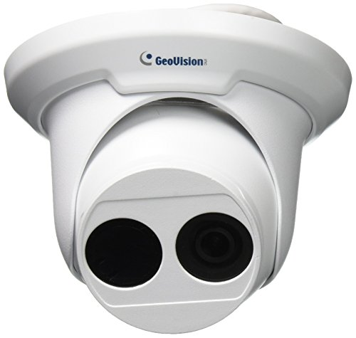(GeoVision GV-EBD4700 4MP H.265 Low Lux WDR Pro IR Eyeball IP Dome Megapixel Surveillance Camera, White)