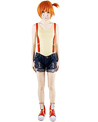 Miccostumes Women's Pokemon Misty Cosplay Costume Small Yellow and Dark Blue
