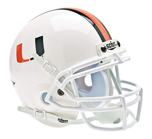 Schutt NCAA Miami Hurricanes Mini Authentic XP Football Helmet, Classic