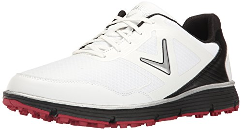 Callaway Men's Balboa Vent Golf Shoe, White/Black, 9.5 D US