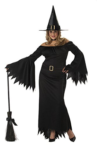 Plus Elegant Witch (California Costumes Women's Plus-Size Elegant Witch Plus, Black, 3X)