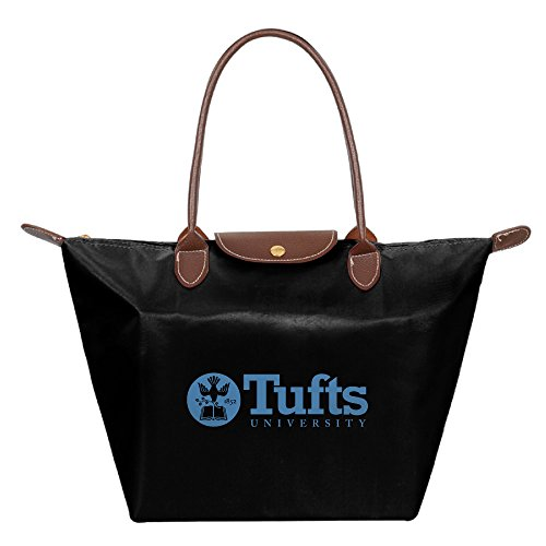 Tufts University Medford Massachusetts Waterproof Foldable Tote Bags Shopping Beach Shoulder Handbags Purse Tote Shoulder Bag Black ()