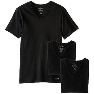 Best Epic Trends 41gexGkHa3L._SS300_ Calvin Klein Men's Cotton Classic Slim Fit V Neck T-Shirts