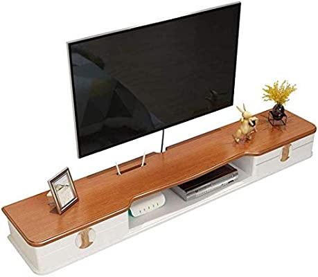 Desconocido CS-SFE - Estante de Pared para televisor (Madera Maciza), Estante de Pared (tamaño: 130 cm), 110 cm: Amazon.es: Hogar