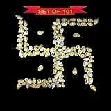 Lot of 101 Pcs of Natural Yellow Kawdi