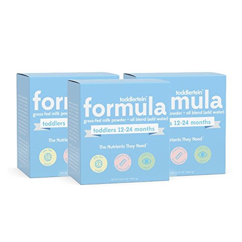 Toddlertein: The Only Grass-fed Toddler Formula Milk Drink That is 100% Soy-Free, Hormone-Free & Non-GMO. Complete 25 Vitamins and Minerals. Gluten Free. No Added Sugar. 1-3years, Bulk 3 Pack
