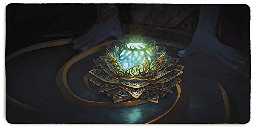 - Masterpiece Black Lotus Stitched Edging 36x18 Inch Extended Mouse Pad by Inked Gaming / Non-Slip, Rubber, Professional Mouse mat with Smooth Surface. PC Gaming Your Game. Your Style.