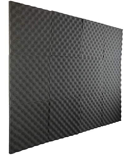 New Level 12 Pack- Acoustic Panels Studio Foam Egg Crate 1' X 12' X 12'