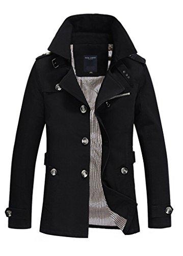 Nothar Mens Stylish Fashion Classic Single Breasted Pea Coat