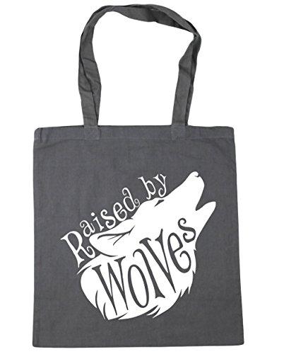 HippoWarehouse Raised By Wolves Tote Compras Bolsa de playa 42cm x38cm, 10litros, azul marino (azul) - 13513-TOTE-French Navy gris grafito