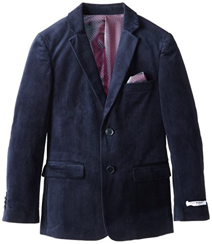 Isaac Mizrahi Big Boys' Solid Velvet Blazer, Navy, 18 (Boy Blazers On Sale)