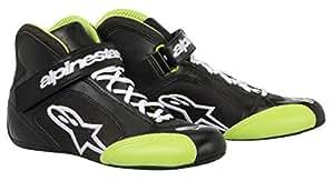 Alpinestars (2712013-16-2.5) Black/Green Size-2.5 Tech 1-K Karting Shoes