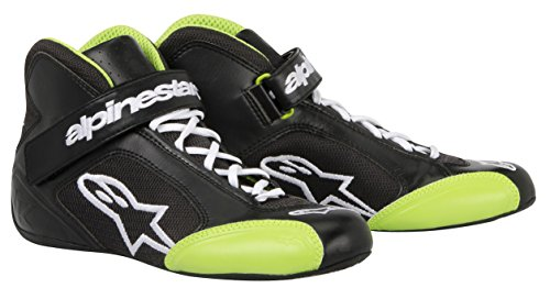 Alpinestars (2712013-16-7.5 Black/Green Size-7.5 Tech 1-K Karting Shoes - Karting Shoes