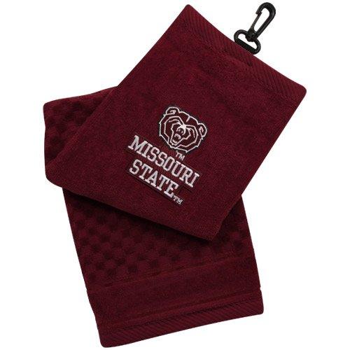 - NCAA Missouri State University Bears Embroidered Golf Towel - Maroon
