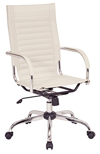 Ave Six Trinidad High Back Office Chair with Fixed Padded Ar