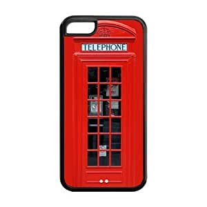 Apple iPhone 5c 5 Red British Phone Booth Hard Case Phone Cover London Featured Series Protective Cases