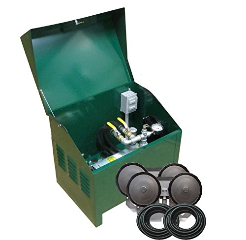 Deluxe Rotary Vane Pond Aeration System Complete PA50D 1/4HP includes Locking Cabinet