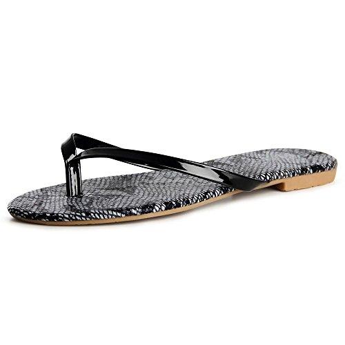 topschuhe24 Noir topschuhe24 Sandalettes Sandales Femmes Femmes O5RqvwR