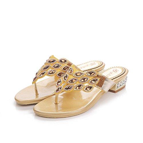 Zapatos de Mujer Charol Glitter Talones de Tacón Grueso Sandalias Peep Toe  Oficina y Carrera Fiesta 9f0c2b2e410d