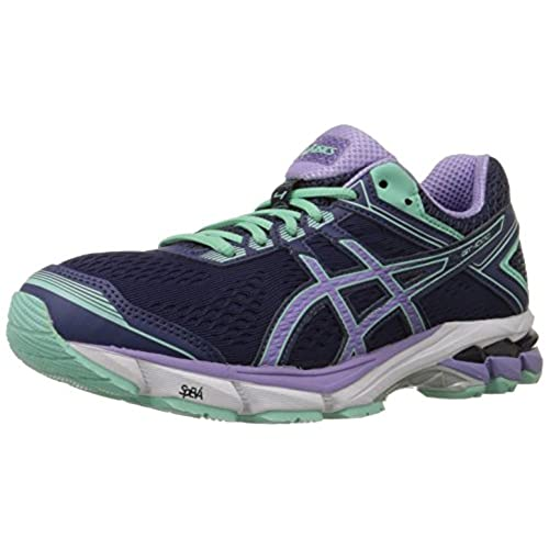 ASICS Women's Gt-1000 4 Running Shoe, Midnight/Violet/Beach Glass, 6 M US