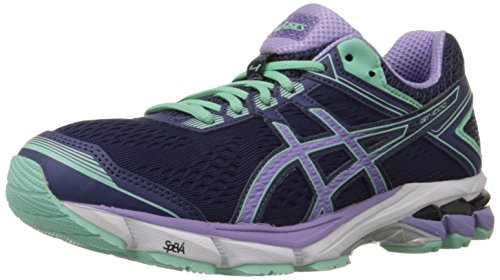 ASICS Women's Gt-1000 4 Running Shoe, Midnight/Violet/Beach Glass, 5 D US