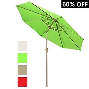 Balichun 9 Ft Outdoor Table Patio Umbrella