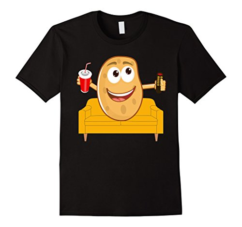 Mens Couch Potato Shirt, Funny Halloween Costume Gag Gift Large (Soft Drink Costume)