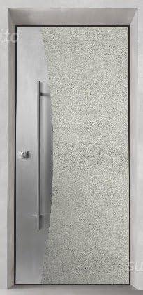 Puerta Blindada metalnova con panel externo de porcelanato Laminam y barra de acero inoxidable: Amazon.es: Bricolaje y herramientas