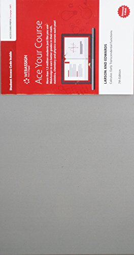 WebAssign Printed Access Card for Larson/Edwards' Calculus: Early Transcendental Functions, Multi-Term -  Ron Larson, 7th Edition, Printed Access Code