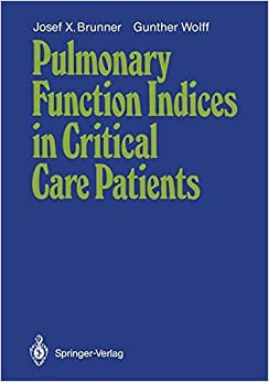 Book Pulmonary Function Indices in Critical Care Patients