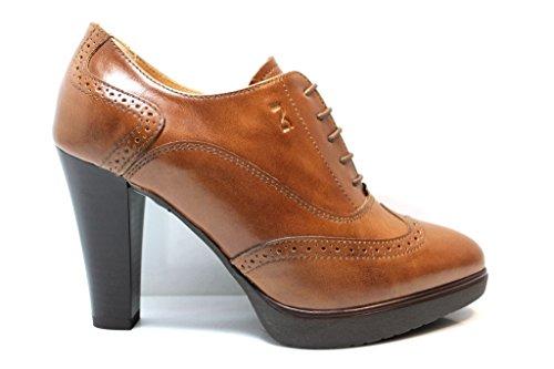 para Giardini de cordones de Piel Nero mujer cuero Zapatos qZHaxT