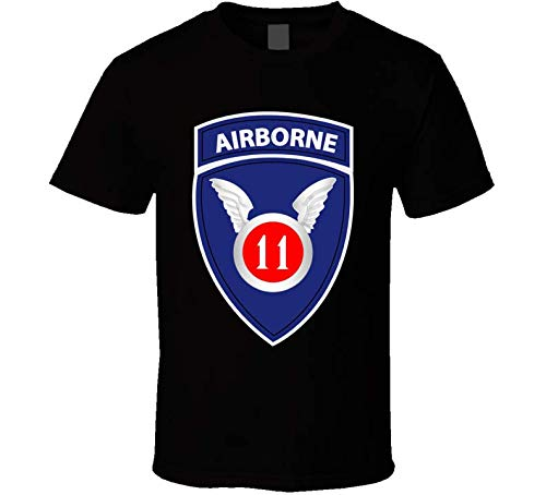 XLARGE - Army - 11th Airborne Division Wo Txt T Shirt - Black ()
