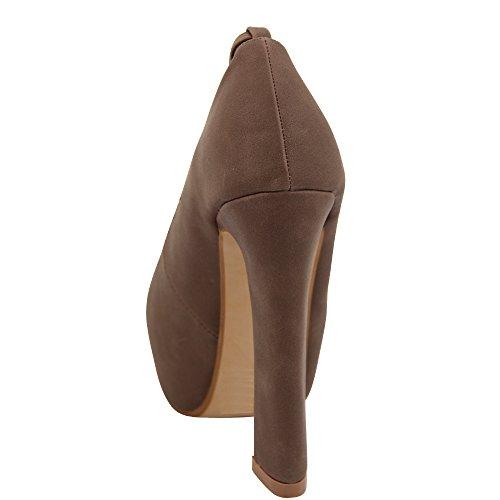Unbekannt - Zapatos de vestir de Material Sintético para mujer - caqui