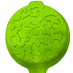 Single round with flower silicon cake model,washable,food grade silicon,-40 to 240 degree temperature can use