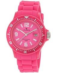 Laurens Womens GW41J902Y  Rotating Bezel Pink Rubber Watch