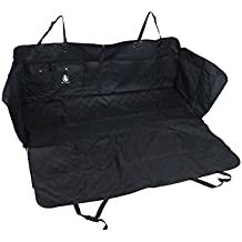 Pet Tricks Luxury Dog Car Seat Cover Quilted Hammock Style w/ Side Flaps & Two Pockets w/Button Snap Closure Heavy-Duty Waterproof Scratchproof - Easy to Install & Clean New Premium Stitching