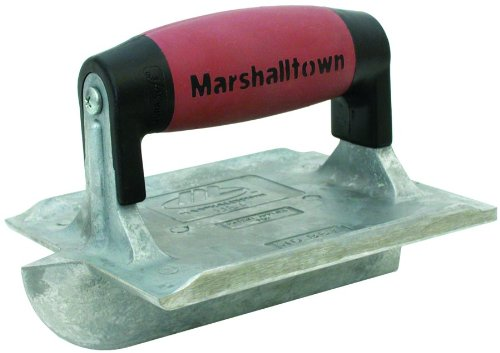 Marshalltown+Trowel+ Products : MARSHALLTOWN The Premier Line 834D 6-Inch by 4-3/8-Inch Heavy Duty Zinc Hand Groover with DuraSoft Handle