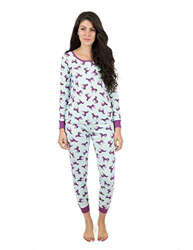 Leveret Womens Pajamas Unicorn 2 Piece Pajama Set 100% Cotton Size Medium