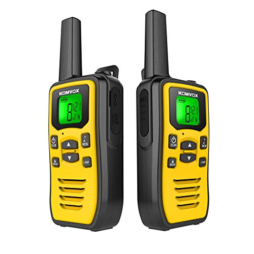 Professional Rechargeable PMR Radio Walkie Talkies for Adult Teenagers, Two Way Radios 8 Channels VOX Scan LCD Display…