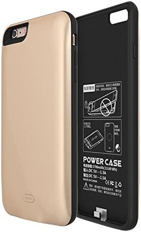iPhone 6 Plus Funda Batería, 7500mAh Recargable Externa Portátil Batería Cargador Pack Power Bank Integrada Backup Alta Capacidad Extra de Batería Carcasa Protectora Golden: Amazon.es: Electrónica