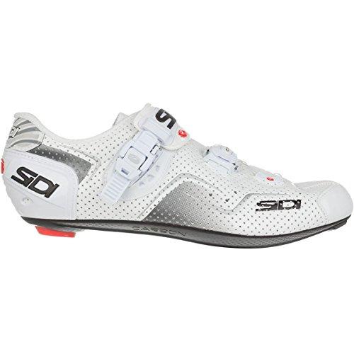 Sidi KAOS Air Carbon Cycling Shoe - Men's White, 43.0 (Sidi Wire Carbon Air Vernice Road Shoes 2015)
