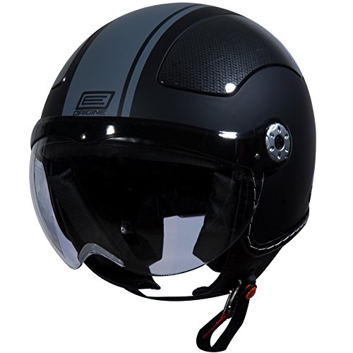Origine O528 Pilota 3/4 Helmet (Flat Black, Small) (Grey Gara)