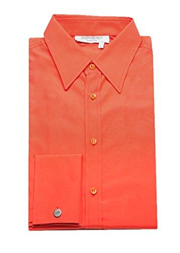 Yves Saint Laurent Men's Cotton Point Collar Dress Shirt - Clothes Saint Laurent Yves