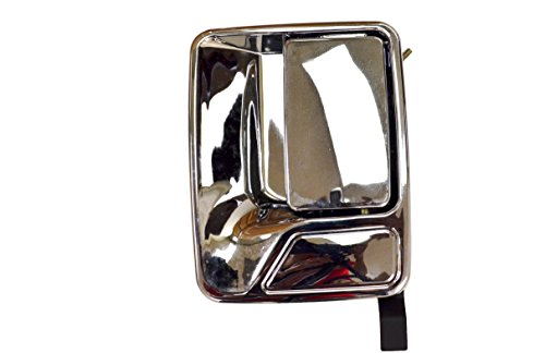 Door Handle Chrome Excursion (PT Auto Warehouse FO-3523M-RL - Outside Exterior Outer Door Handle, Chrome - Driver Side Rear)