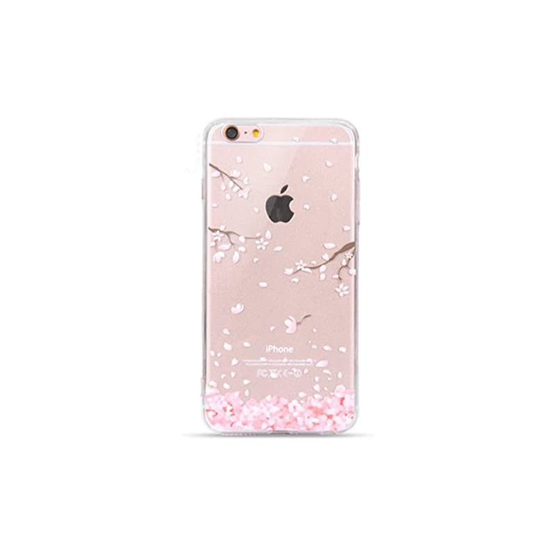 Geekmart Clear Soft Floral Silicone Back