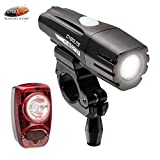Cygolite Metro 400 Lumen Headlight/Hotshot 50 Lumen Tail Light USB Rechargeable Bicycle Light Set