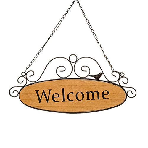 Orgrimmar Welcome Door Signs Decorative Wood Hanging Sign Home Plaque Garden Bar Cafe Shop Store Front Door Wall Hanging Decoration