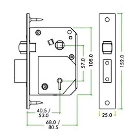 "Image result for Zoo 5 Lever BS RollerBolt Sashlock - Chubb retro fit (ez Chubb) 3K74, 2.5"" (67mm) Brass"