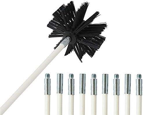 EG-YCQJ, Lavado 1pc Chimenea de limpieza del cepillo de la máquina secadora Campana extractora de tuberías cepillo cepillo de limpieza buena elasticidad espiral Cepillo (Size : 4 PCs Pole Brush) :