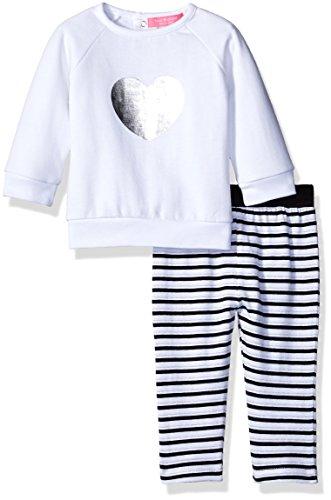 isaac-mizrahi-girls-2pc-fleece-top-and-legging-set-white-silver-foil-6-9-months